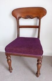 Mahogany Carved Back Dining or Occasional chair
