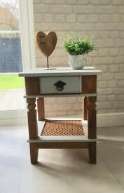 SOLID OAK TABLE WITH DRAWER