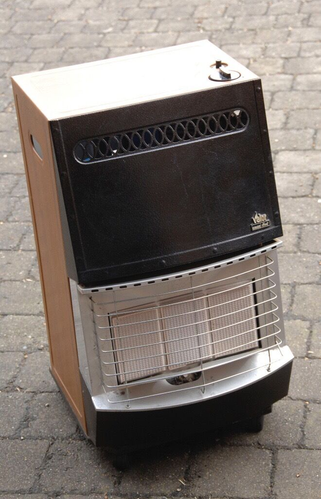 Valor Calor Gas Heater With Part Filled Gas Bottle In Very