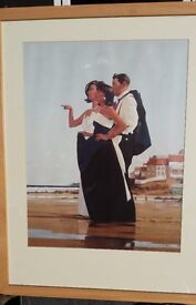 Jack Vettriano Mounted Prints in a Wooden & Glass Frame - The Missing Man