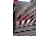 IKEA OYSTER (OFF WHITE) COLOUR WOODEN BLIND (35MM) SLATS