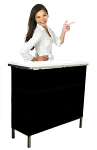 Trade-Show-Portable-Kiosk-Counter-Brand-New-UNBRANDED-black-front-velcros-on