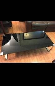 Tempered Glass Coffee Table Black
