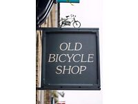 Bar/floor Supervisor wanted for Old Bicycle Shop, progression opportunities and excellent pay/tips