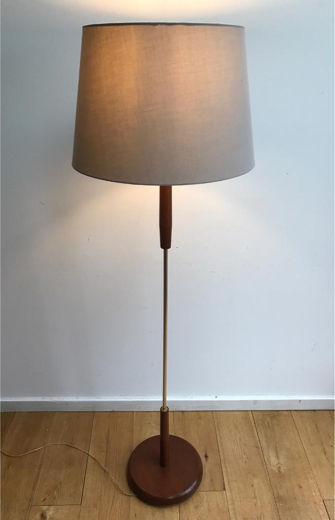 Vintage Scandinavian Teak Floor Lamp