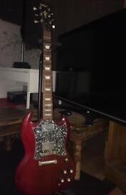 Vintage VS6 SG with Kustom amp