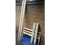 Single bed, pine, 3ft, not used