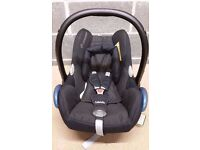 MAXI COSI CABRIOFIX 0-13KG WITH HEAD HUGER AND RAINCOVER