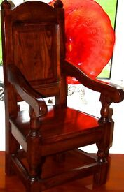 LOVELY SOLID WOOD CHILDS OR TEDDY CHAIR