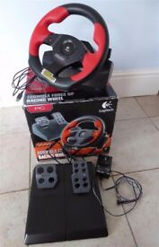 Logitech Wingman Formula Force GP- Force feedback steering wheel & 2 pedal set