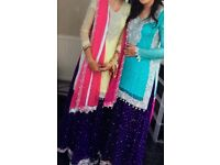 Wedding clothes, Asian lengha suit, in blue