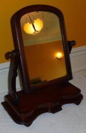 Victorian mahogany swivel dressing table mirror