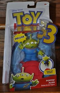 Disney Pixar Toy Story 3 Deluxe Alien Action Figure with Poppin Base NEW