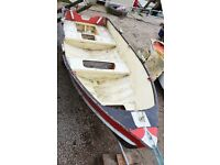 Speedboat QUICK SALE 1970s classic 13ft aluminium Pearly Miss boat dinghy needs TLC