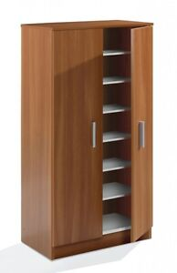 Bellini shoe cabinet 20 pairs 2 door chestnut effect 7 for Bellini kitchen cabinets