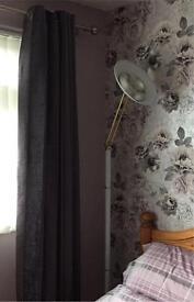 White tall lamp- bedroom or living room