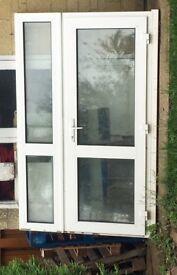 UPVC door with side glazing