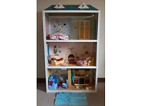 1980's Sindy House with furniture, dolls and accessories