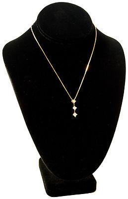 10 Black Velvet Bust Pendant Necklace Jewelry Displays