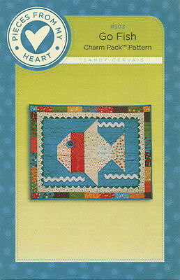 Go Fish ~ Quilt Charm Pack Pattern by Pieces From My Heart 503 ()