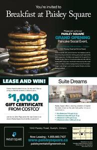 Brand New 1 BR - Grand Opening Pancake Breakfast this Saturday!