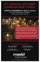 2nd Annual MADD Victims' Candlelight Vigil