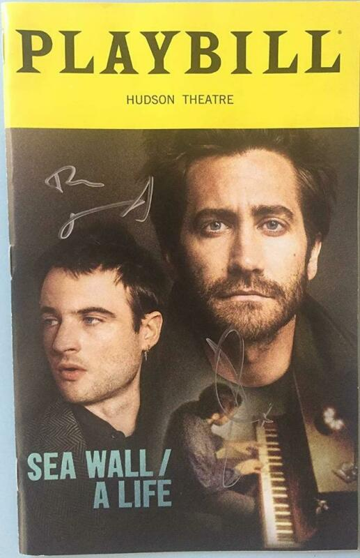 Jake Gyllenhaal & Tom Sturridge  Signed Playbill Sea Wall / A Life Opening Night