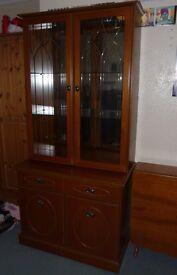 Teak Display Cabinet by JS Sakol. Excellent condition. £150. 90cm wide x 50 cm deep x 187cm high