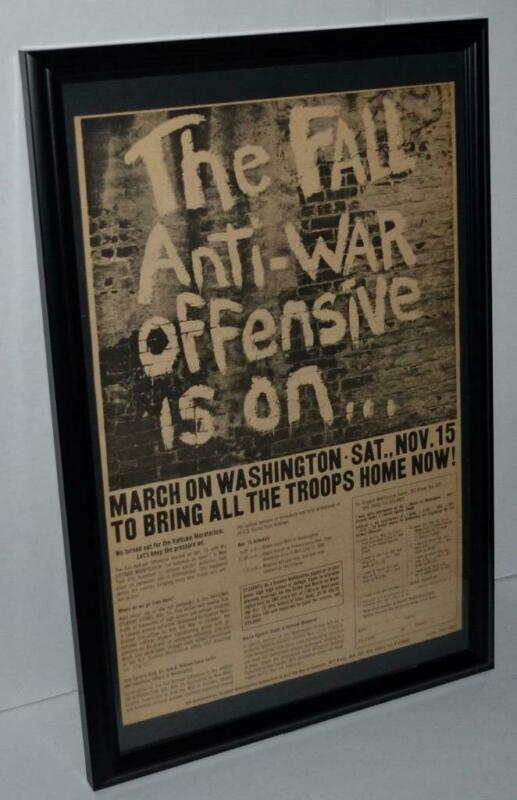 PROTEST MARCH ON WASHINGTON AGAINST RACISM WAR 1969 FRAMED POSTER / AD
