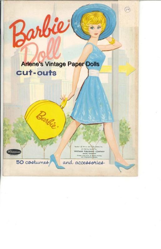 VINTAGE UNCUT 1962 BARBIE DOLL PAPER DOLLS HD~LASER REPRODUCTION~LO PR~Hi QUAL