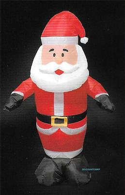 """""""48"""""""" Inflatable Santa Led Lighted Outdoor Christmas Yard Decoration"""""""