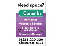 Work space and storage space to rent in East Kilbride
