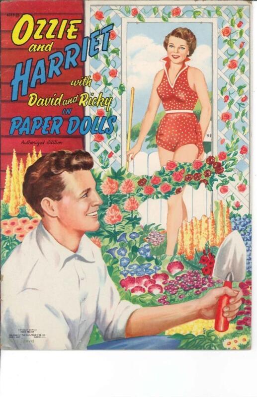 VINTGE UNCUT 1954 OZZIE HARRIET PAPER DOLLS HD LASER REPRODUCTION~LO PR~HI QUA