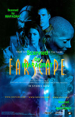 FarScape: John Crichton: 2001 DVD Release: Great Original Photo Print Ad!