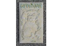 Concrete Cat Wall Plaque