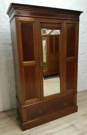 Edwardian Inlaid Wardrobe (DELIVERY AVAILABLE FOR THIS ITEM OF FURNITURE)