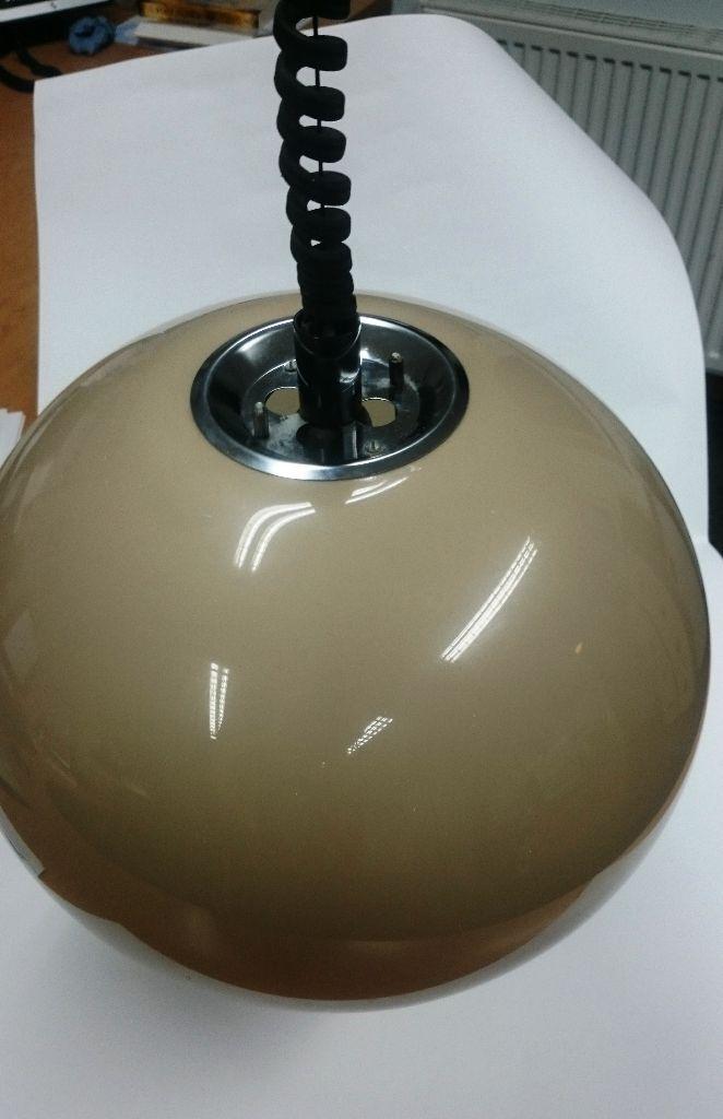 Harvey Guzzini Style 60s 70s RISE Amp FALL PENDANT LIGHT