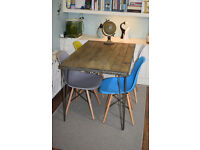 Industrial Kitchen Table and x 4 chairs Mid Century Style hairpin UK DELIVERY