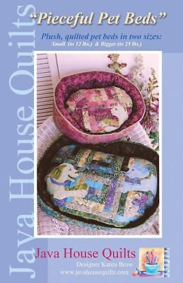 Java House Pieceful Pet Cat Dog Bed Quilt Sewing Pattern
