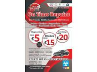 ONTIME REPAIRS LTD! BEST PRICES IN TOWN CONTACT US FOR ANY AUTOMOTIVE NEEDS!