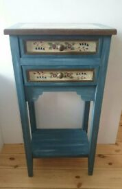 Painted bedside table or occasional table