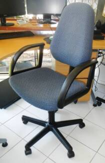 Office Chair-High Back 2-Lever chair with blue fabric