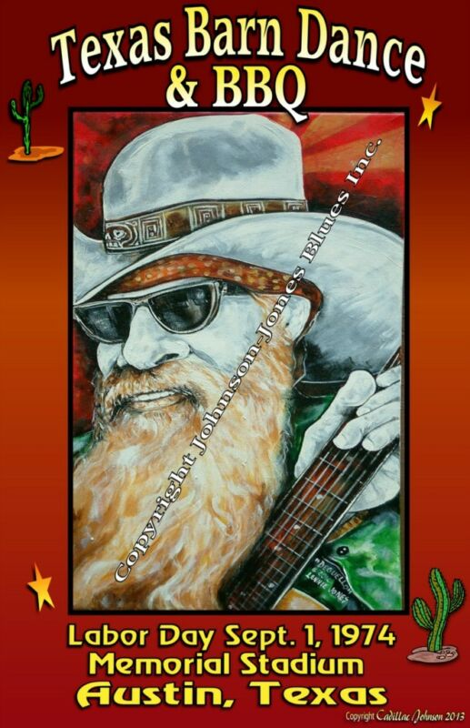 Poster ZZ Top Barn Dance & BBQ with Billy Gibbons Poster by Cadillac Johnson