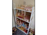 Sindy vintage dolls house and furniture