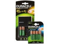 Duracell AA and AAA Battery Charger with 14 AA & AAA Rechargeable Batteries