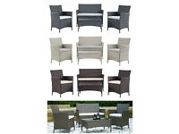 Brand New 4PC Rattan Garden Furniture Set Outdoor Patio Sofa Table Chairs Wicker 5 colours