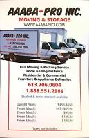 AAABA-PRO INC MOVING & TRUCK RENTALS:613-706-0604