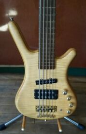 WARWICK CORVETTE FNA JAZZMAN 5 STRING BASS GUITAR MADE IN GERMANY WITH DELUXE GIG BAG