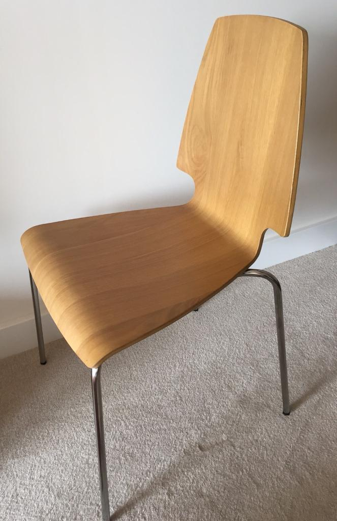 Ikea Vilmar Chair Oak Chrome In Canada Water London