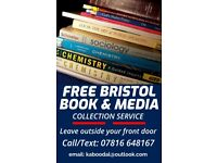 FREE BRISTOL BOOK & MEDIA COLLECTION SERVICE - ITEMS REUSED, RECYCLED OR DONATED TO LOCAL CHARITIES